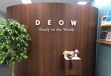❽留学Woamnのオフィスに到着です。受付の内線より、担当カウンセラーをお呼び出しください。